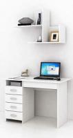 Комплект мебели для кабинета MFMaster Милан УШ-1-05 / Милан-1-05-БТ-16 (белый) -