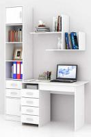 Комплект мебели для кабинета MFMaster Милан УШ-1-02 / Милан-1-02-БТ-16 (белый) -