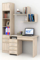 Комплект мебели для кабинета MFMaster Милан УШ-1-02 / Милан-1-02-ДС-16 (дуб сонома) -