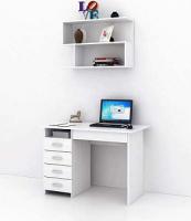 Комплект мебели для кабинета MFMaster Милан УШ-1-04 / Милан-1-04-БТ-16 (белый) -