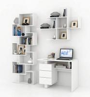 Комплект мебели для кабинета MFMaster Ренцо УШ-1-04 / Ренцо-1-04-БТ-02 (белый) -