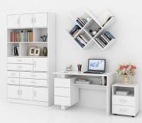 Комплект мебели для кабинета MFMaster Ренцо УШ-2-04 / Ренцо-2-04-БТ-02 (белый) -