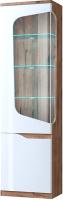 Шкаф-пенал с витриной Anrex Evora 1V1D L (веллингтон/белый глянец) -