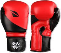 Боксерские перчатки RSC Pu Flex Bf BX 023 (р-р 10, красный/черный) -