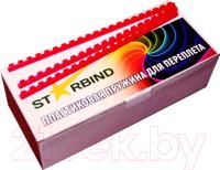 Пружины для переплета Starbind 18мм / BP18Rd (100шт, красный) -