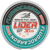 Леска флюорокарбоновая Fishing Empire Lider Fluorocarbon 100% 0.28мм 30м / FL-0128 -