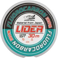 Леска флюорокарбоновая Fishing Empire Lider Fluorocarbon 100% 0.43мм 30м / FL-0143 -