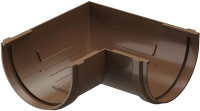 Угол желоба Docke Dacha 120мм 90 градусов (светло-коричневый) -