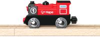Локомотив игрушечный Hape Паровоз со светом на батарейках / E3703-HP -