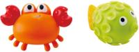 Набор игрушек для ванной Hape Игрушка брызгалки. Рыбка и краб / E0208-HP -