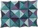Лежанка для животных Trixie Patchwork 37078 (зеленый/фиолетовый) -