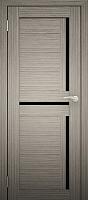 Дверь межкомнатная Юни Двери Амати 18 90x200 (дуб дымчатый/стекло черное) -