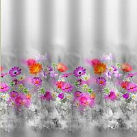 Шторка-занавеска для ванны Санакс Розовые герберы 01-37 -