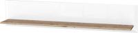 Полка Ижмебель Сиэтл 10 (белый шелк/орех натуральный/невис/белый снег) -