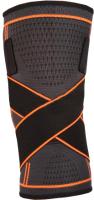 Суппорт колена Indigo IN209 (L, черный/оранжевый) -