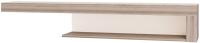 Полка Ижмебель Люмен 4 (дуб сакраменто/белый снег глянец) -