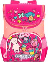 Школьный рюкзак Grizzly RAn-082-6 (жимолость/персиковый) -
