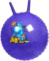 Фитбол с рожками Bradex Детский / DE 0537 (фиолетовый) -