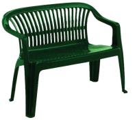 Скамья садовая Ipae Progarden Diva / DIV030VE (зеленый) -