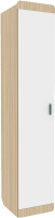 Шкаф-пенал Аквилон Кот №5.1 (туя светлая/белый) -