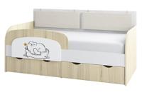 Кровать-тахта детская Аквилон Кот №800.4 (туя светлая) -