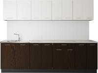 Готовая кухня Артём-Мебель Лана СН-113 без стекла 2.6 (сосна арктическая/венге) -
