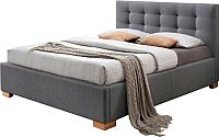 Двуспальная кровать Signal Copenhagen 160x200 (серый) -