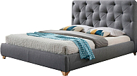Двуспальная кровать Signal Bugatti 160x200 (серый) -