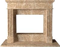 Портал для камина Glivi Арден 150x60x119 Emperador Light (светло-коричневый) -
