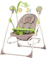 Детский шезлонг Carrello Nanny CRL-0005 (зеленые точки) -