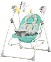 Детский шезлонг Carrello Nanny CRL-0005 (зеленый дино) -