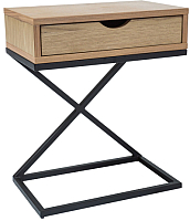 Приставной столик Signal Liz I (дуб/черный) -