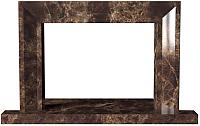 Портал для камина Glivi Дора 115.5x10x72,5 Emperador Dark (темно-коричневый) -