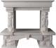 Портал для камина Glivi Висла 130x74x111.5 Biancone (белый) -