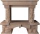 Портал для камина Glivi Висла 130x74x111.5 Rosa Perlino (розовый) -