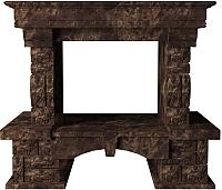 Портал для камина Glivi Висла 130x74x111.5 Emperador Dark (темно-коричневый) -