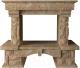 Портал для камина Glivi Висла 130x74x111.5 Emperador Light (светло-коричневый) -