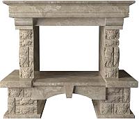 Портал для камина Glivi Висла 130x74x111.5 Breccia Sardo (темно-бежевый) -