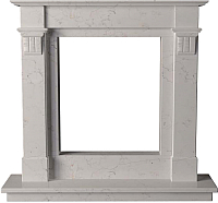 Портал для камина Glivi Инга 144x30x133.5 Biancone (белый) -