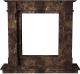 Портал для камина Glivi Инга 144x30x133.5 Emperador Dark (темно-коричневый) -