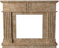 Портал для камина Glivi Лондра 130x30x110 Emperador Light (светло-коричневый) -