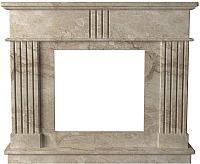 Портал для камина Glivi Лондра 130x30x110 Breccia Sardo (темно-бежевый) -