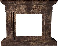 Портал для камина Glivi Миллениум 141x40x115 Emperador Dark (темно-коричневый) -