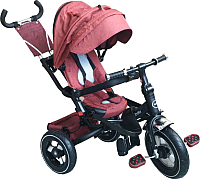 Детский велосипед с ручкой Fun Trike LMX-809RA (красный) -