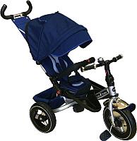 Детский велосипед с ручкой Fun Trike LMX-809BA (синий) -