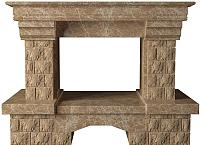 Портал для камина Glivi Несвиж 150x74x110 Emperador Light (светло-коричневый) -