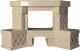 Портал для камина Glivi Несвиж угловой 150.5x124.5 Crema Marfil (слоновая кость) -