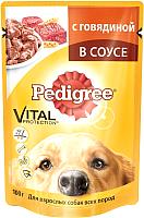 Корм для собак Pedigree Для взрослых собак всех пород с говядиной в соусе (100г) -