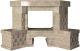 Портал для камина Glivi Несвиж угловой 150.5x124.5 Breccia Sardo (темно-бежевый) -