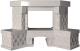 Портал для камина Glivi Несвиж угловой 150.5x124.5 Biancone (белый) -